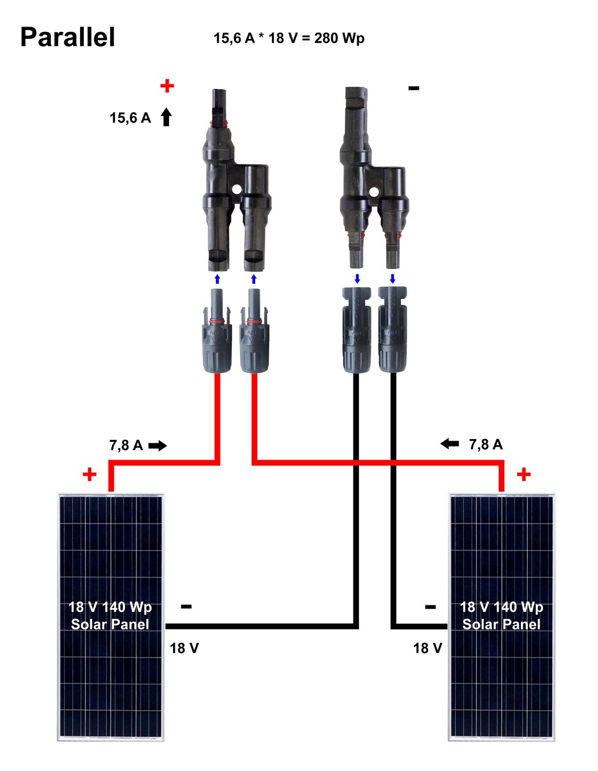 připojení solárního panelu