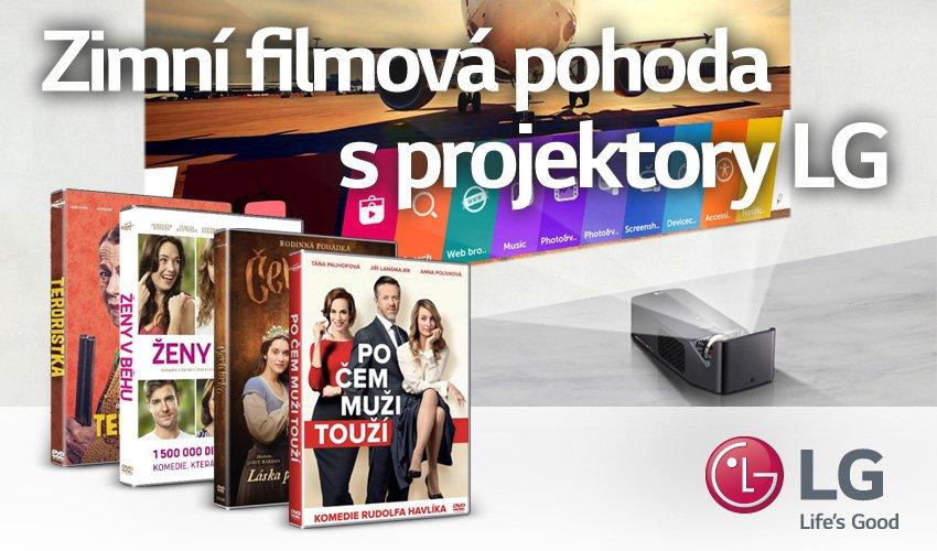 Ke každému u nás zakoupenému LG projektoru (kód: PROLGxxx) získáte kolekci filmů.