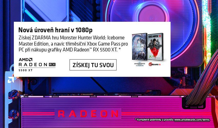 Nová grafika Radeon RX 5500 XT a bundle s hrou Monster Hunter World