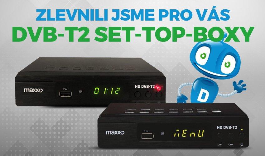Zlevnili jsme pro Vás DVB-T2 SET TOP BOXY