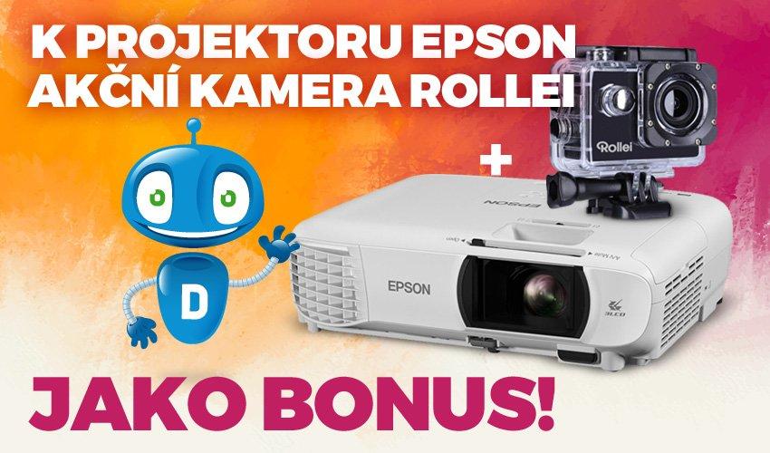 Epson projektor a Rollei kamera