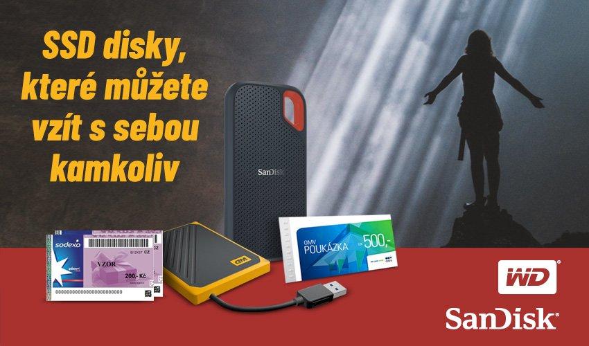 K SSD diskům WD a SanDisk nyní poukaz jako bonus.