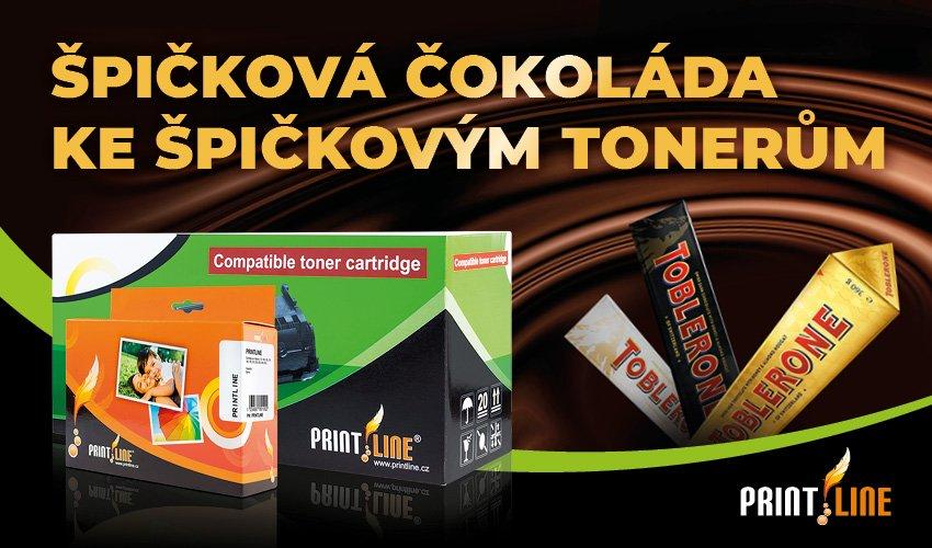 Ke každému toneru nebo multipacku inkoustů Printline čokoláda Toblerone