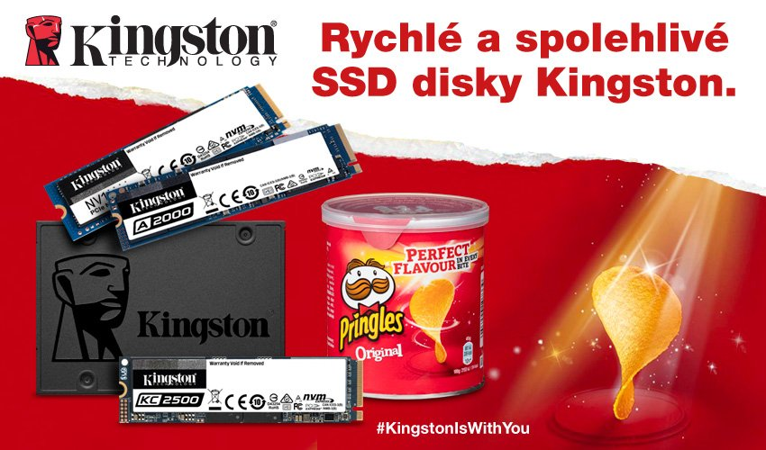 Kingston SSD disky + Pringles