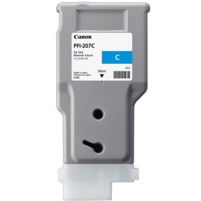 Inkoustová náplň Canon PFI-207C azurová