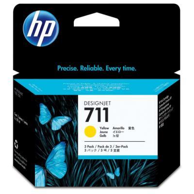 Inkoustová náplň HP 711 (CZ136A) žlutá