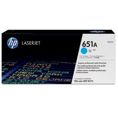 Toner HP 651A (CE341A) modrý