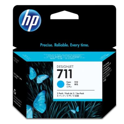Inkoustová náplň HP 711 (CZ134A) modrá