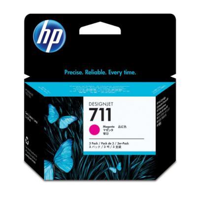 Inkoustová náplň HP 711 (CZ135A) červená
