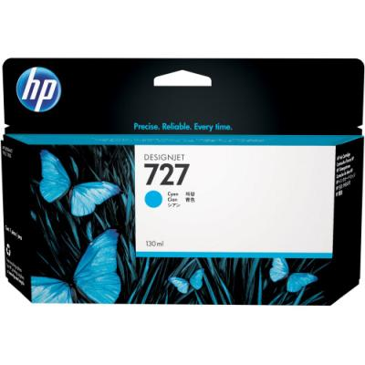 Inkoustová náplň HP 727 (B3P19A) modrá