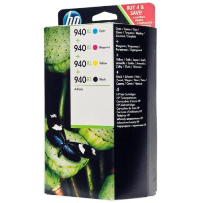 Inkoustová náplň HP 940XL (C2N93AE) CMYK
