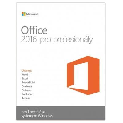 Software MS Office pro profesionály 2016