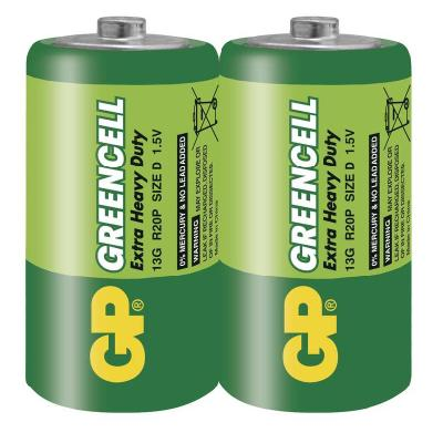 Baterie GP Greencell 1,5V D 2ks