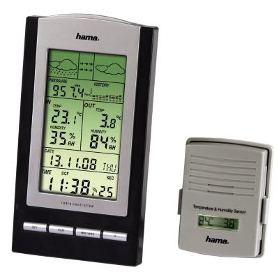 Meteostanice Hama EWS-800 černo-stříbrná