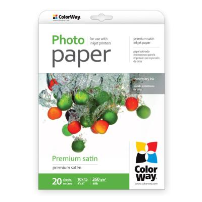Fotopapír ColorWay Premium Satin 10 x 15 20 ks