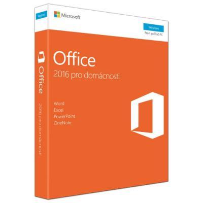 Software MS Office pro domácnosti 2016