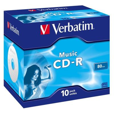 CD médium Verbatim CD-R80 700MB AUDIO 10ks