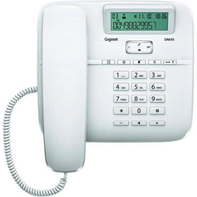 Standardní telefon Siemens GIGASET DA610 bílý