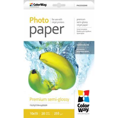 Fotopapír ColorWay Premium semi-Glossy 20 ks
