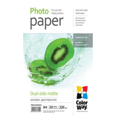 Fotopapír ColorWay Dual-side Matte A4 20 ks