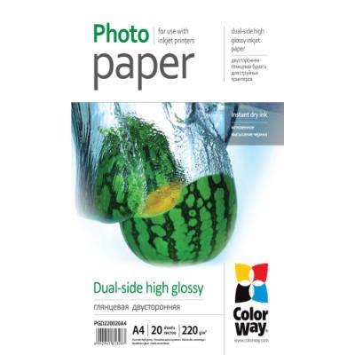 Fotopapír ColorWay Dual-side High Glossy A4 20 ks