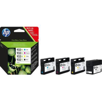 Inkoustová náplň HP 932XL + HP 933 (C2P42AE) CMYK