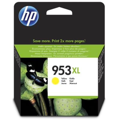 Inkoustová náplň HP 953XL (F6U18AE) žlutá