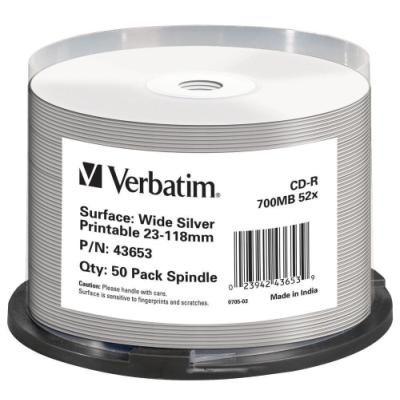 CD médium Verbatim CD-R 80 700 MB 50 ks