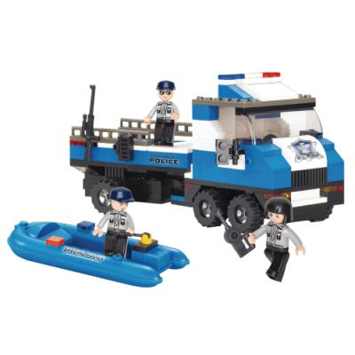 Stavebnice Sluban Policejní náklaďák se člunem