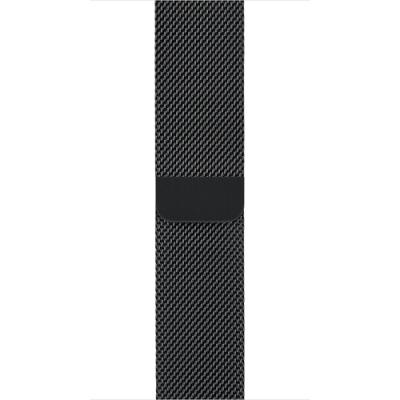 Řemínek Apple Milanese Loop 42 mm černý