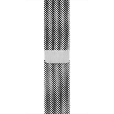 Řemínek Apple Milanese Loop 42 mm stříbrný