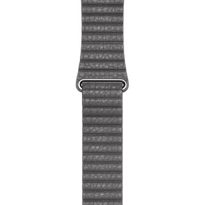 Řemínek Apple Leather Loop 42 mm šedý L
