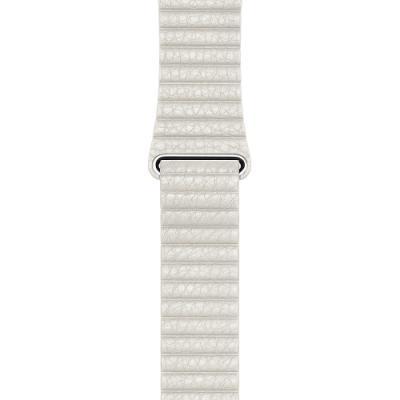 Řemínek Apple Leather Loop 42 mm bílý L