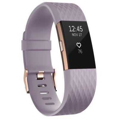 Fitness náramek Fitbit Charge 2 vel. S fialový