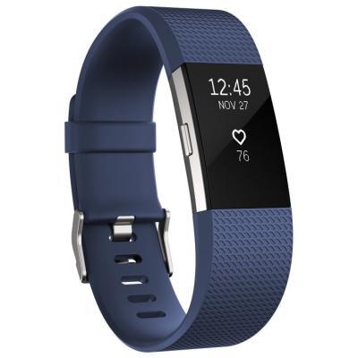 Fitness náramek Fitbit Charge 2 vel. S modrý