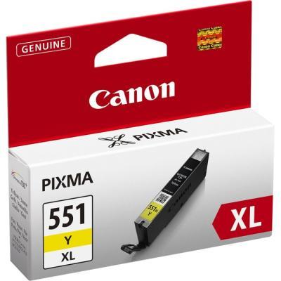 Inkoustová náplň Canon CLI-551Y XL žlutá