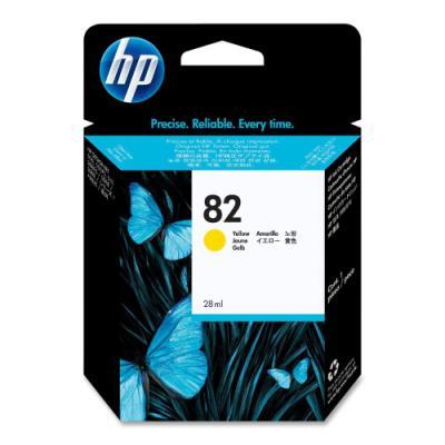Inkoustová náplň HP 82 (CH568A) žlutá