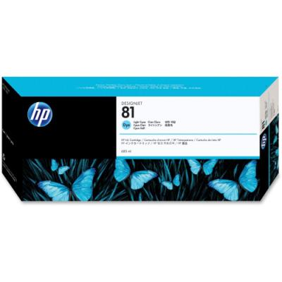 Inkoustová náplň HP 81 (C4934A) světlá modrá