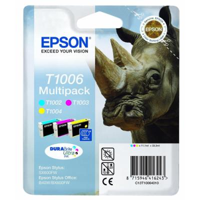 Inkoustová náplň Epson T1006 CMY