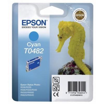 Inkoustová náplň Epson T0482 modrá
