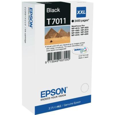Inkoustová náplň Epson T7011 černá