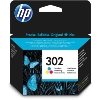 Inkoustová náplň HP 302 (F6U65AE) CMY