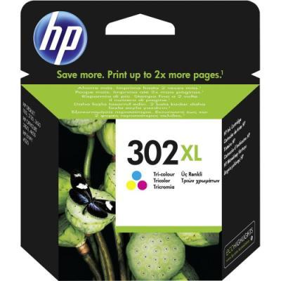 Inkoustová náplň HP 302XL (F6U67AE) CMY