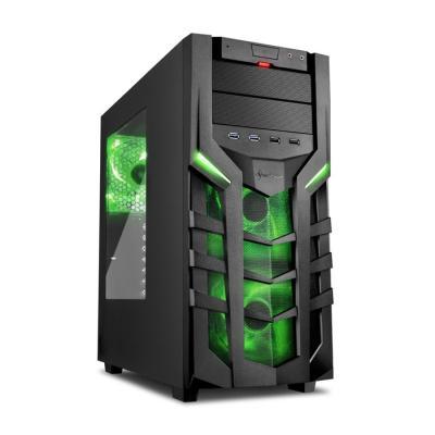 Skříň Sharkoon DG7000 černo - zelená