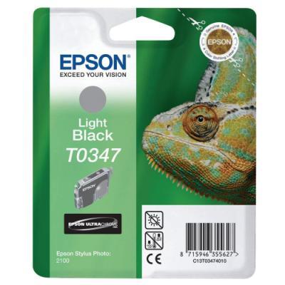 Inkoustová náplň Epson T0347 světlá černá