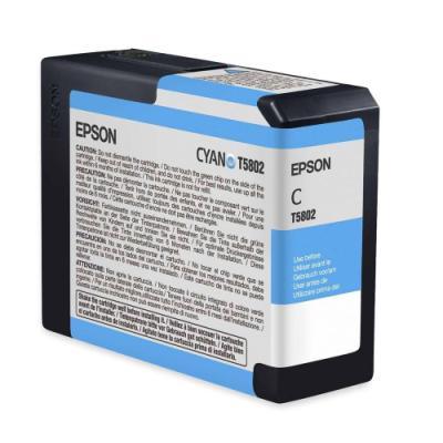 Inkoustová náplň Epson T5802 modrá