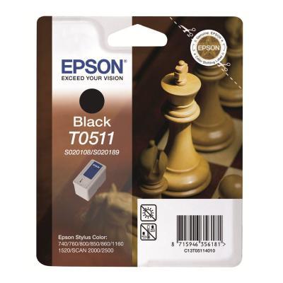 Inkoustová náplň Epson T0511 černá