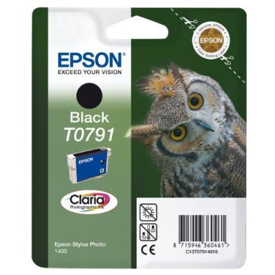 Inkoustová náplň Epson T0791 černá