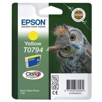 Inkoustová náplň Epson T0794 žlutá