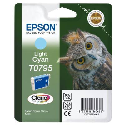 Inkoustová náplň Epson T0795 světlá modrá